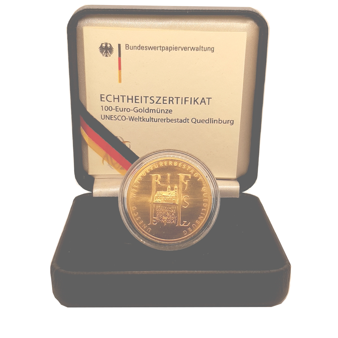 100 Euro Goldmünze Quedlinburg 2003 b