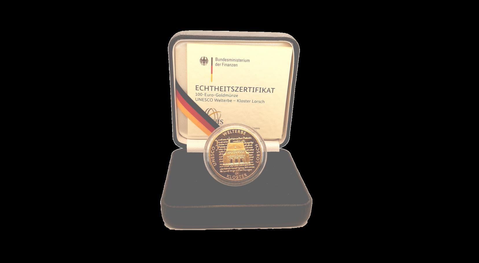 """100-Euro-Goldmünze 2014 """"UNESCO Welterbe –Kloster Lorsch"""""""