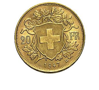 20 Franken Vreneli Goldmünze 2