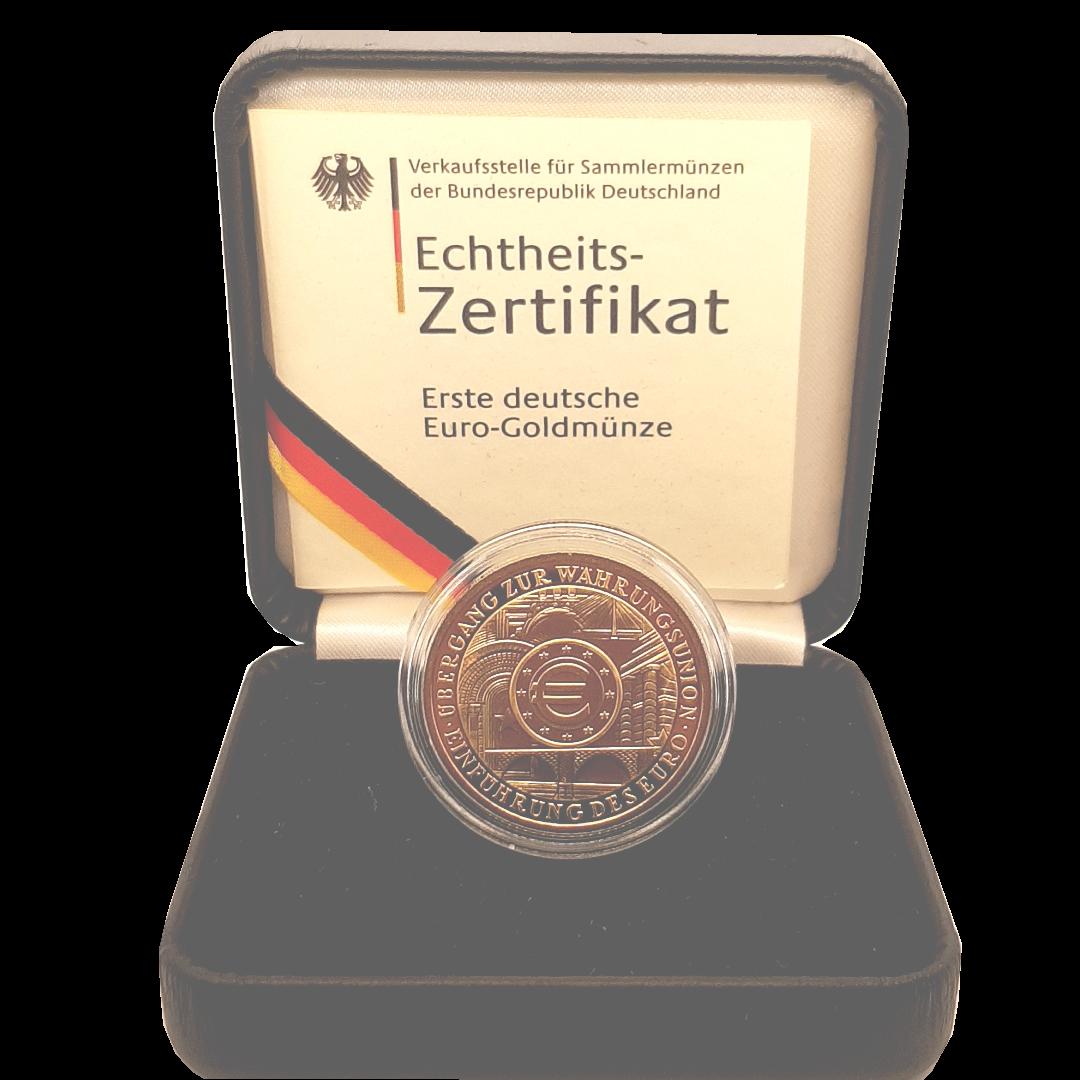Erste deutsche Euro Goldmünze 2002 b