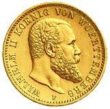20 Mark Wilhelm II von Württemberg Prägejahr 1898 Prägestätte F