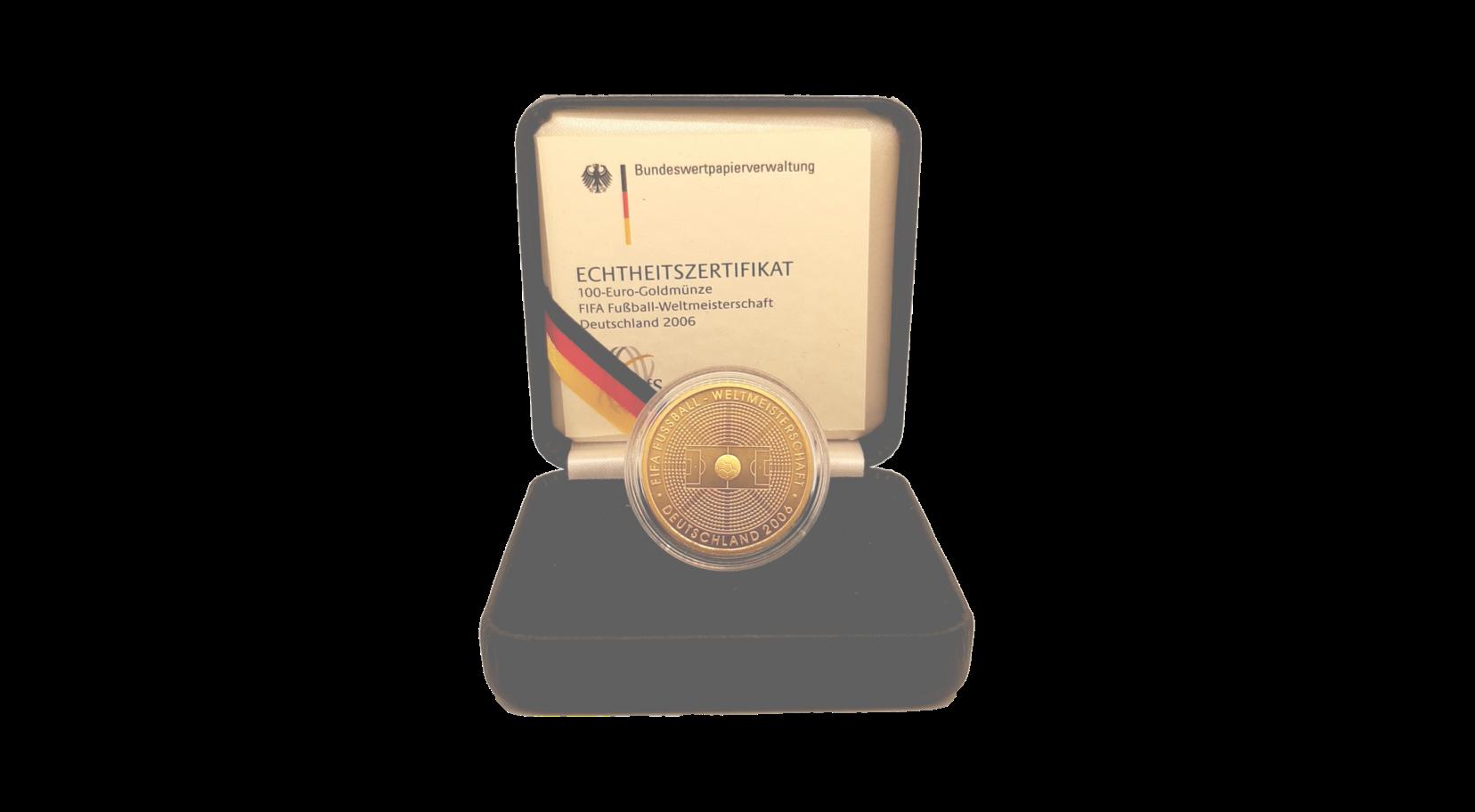 100 Euro Goldmünze FIFA 2006 a