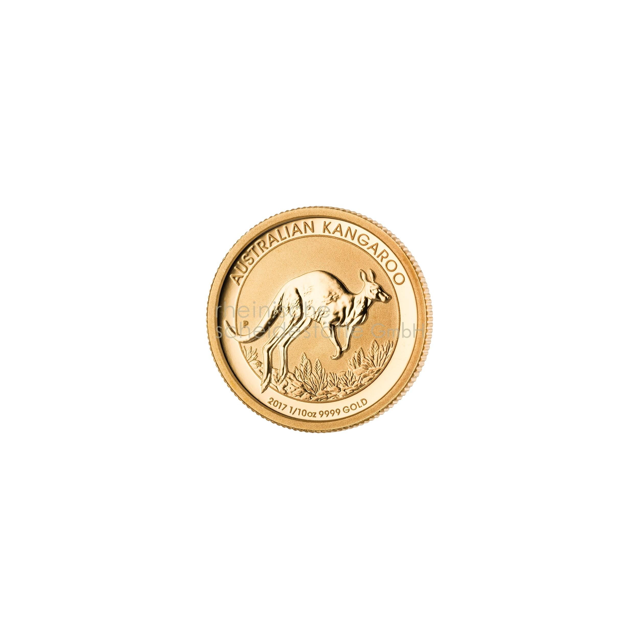 1/10 Unze Australian Kangaroo Goldmünze 1