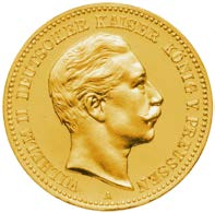 10 Mark Wilhelm II Preußen