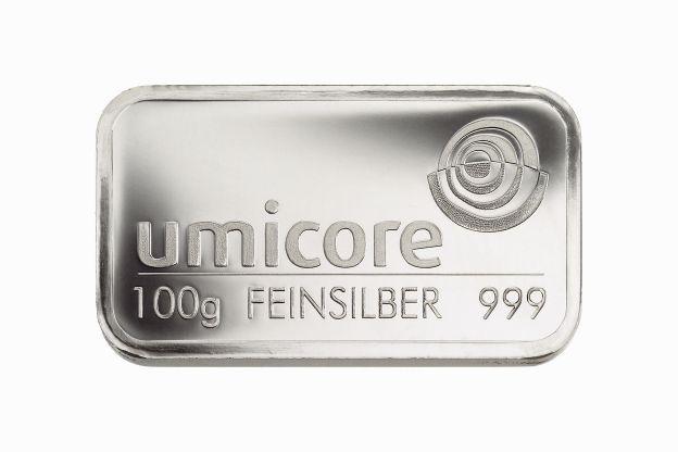 100g Umicore Silberbarren