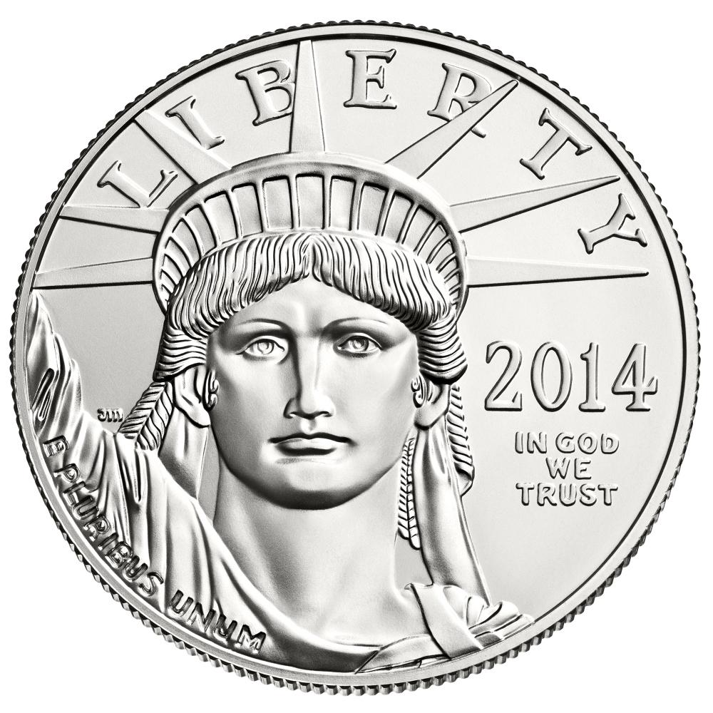 1 Unze (oz) American Eagle Platinmünzen