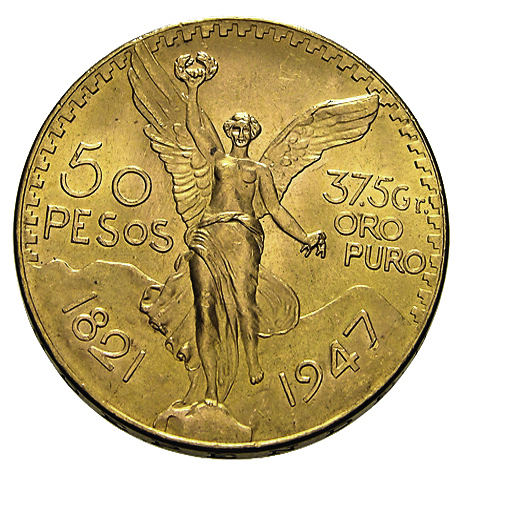 50 Pesos Goldmünze Mexiko Centenario