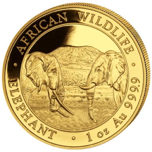 1 Unze (oz) Somalia Elephant 2021 Goldmünze