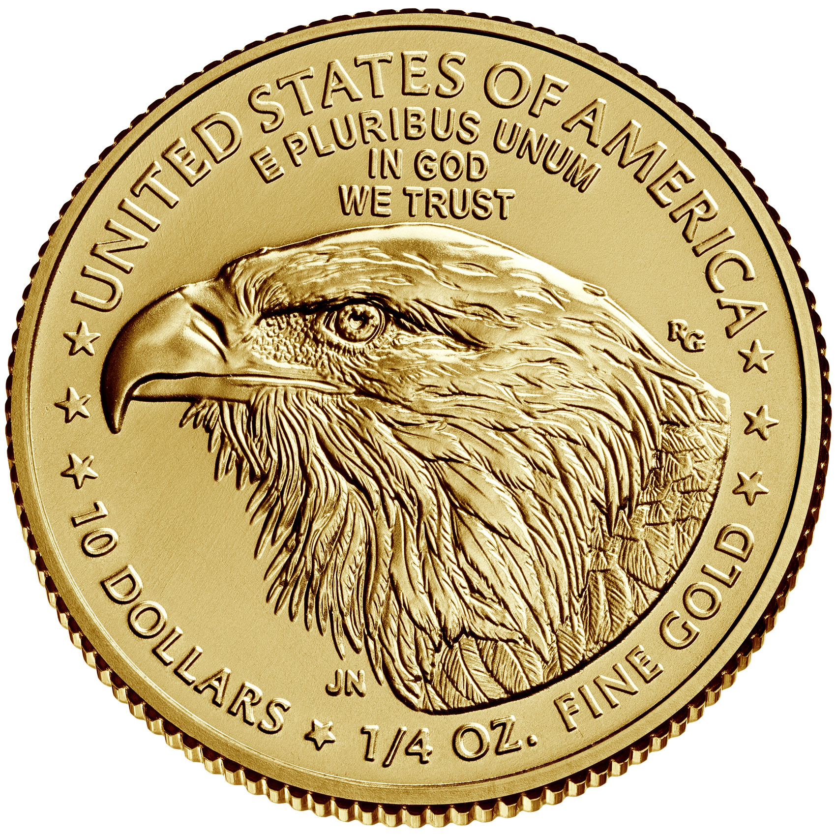 1/4 Unze (oz) American Eagle Neuware - neues Motiv