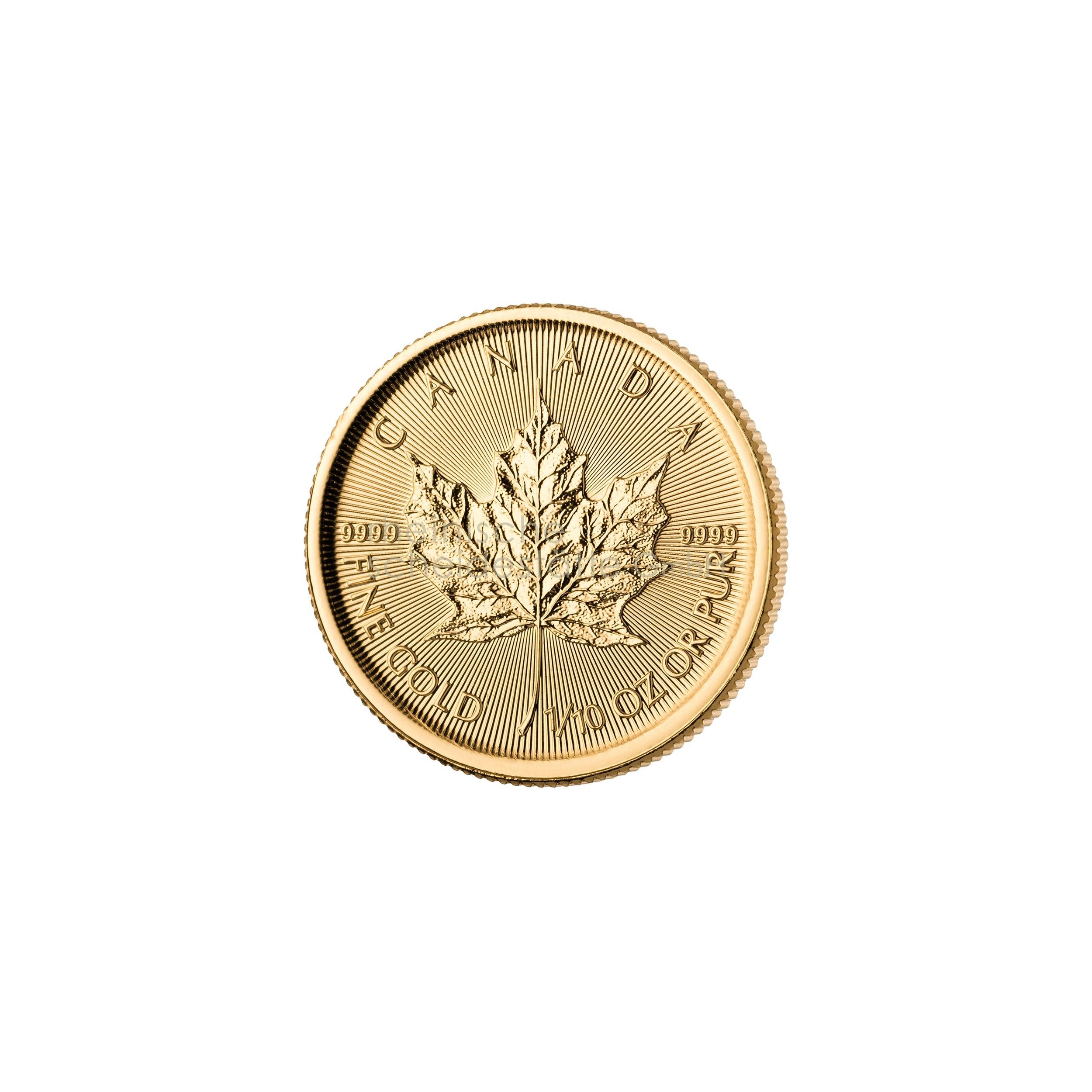 1/10 Unze Maple Leaf Goldmünze 1
