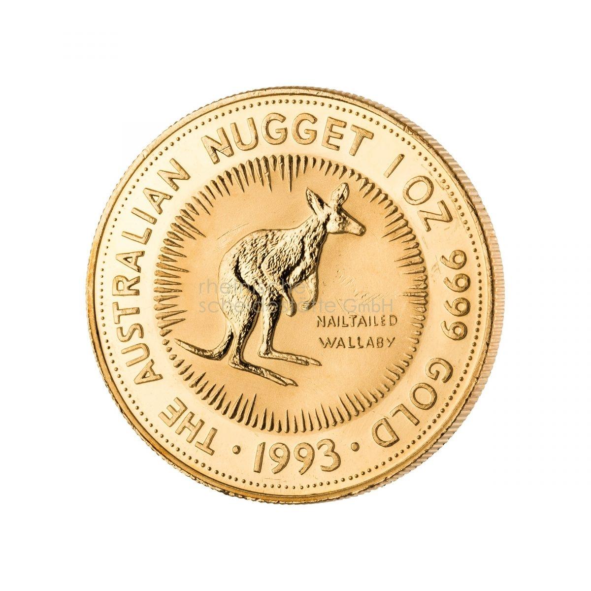 1 Unze Australian Kangaroo Goldmünze 1