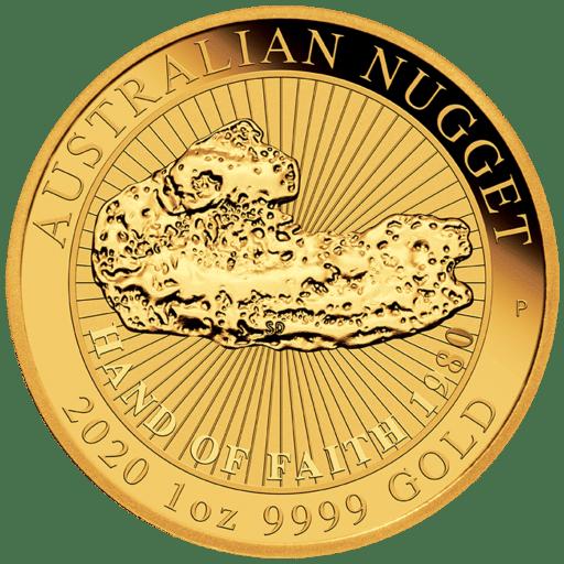 "1 Unze Australian Nugget Gold ""Hand of Faith"" 2020"
