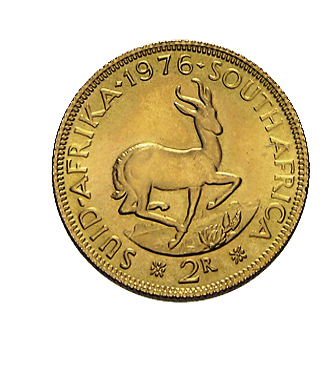 2 Rand Südafrika Goldmünze