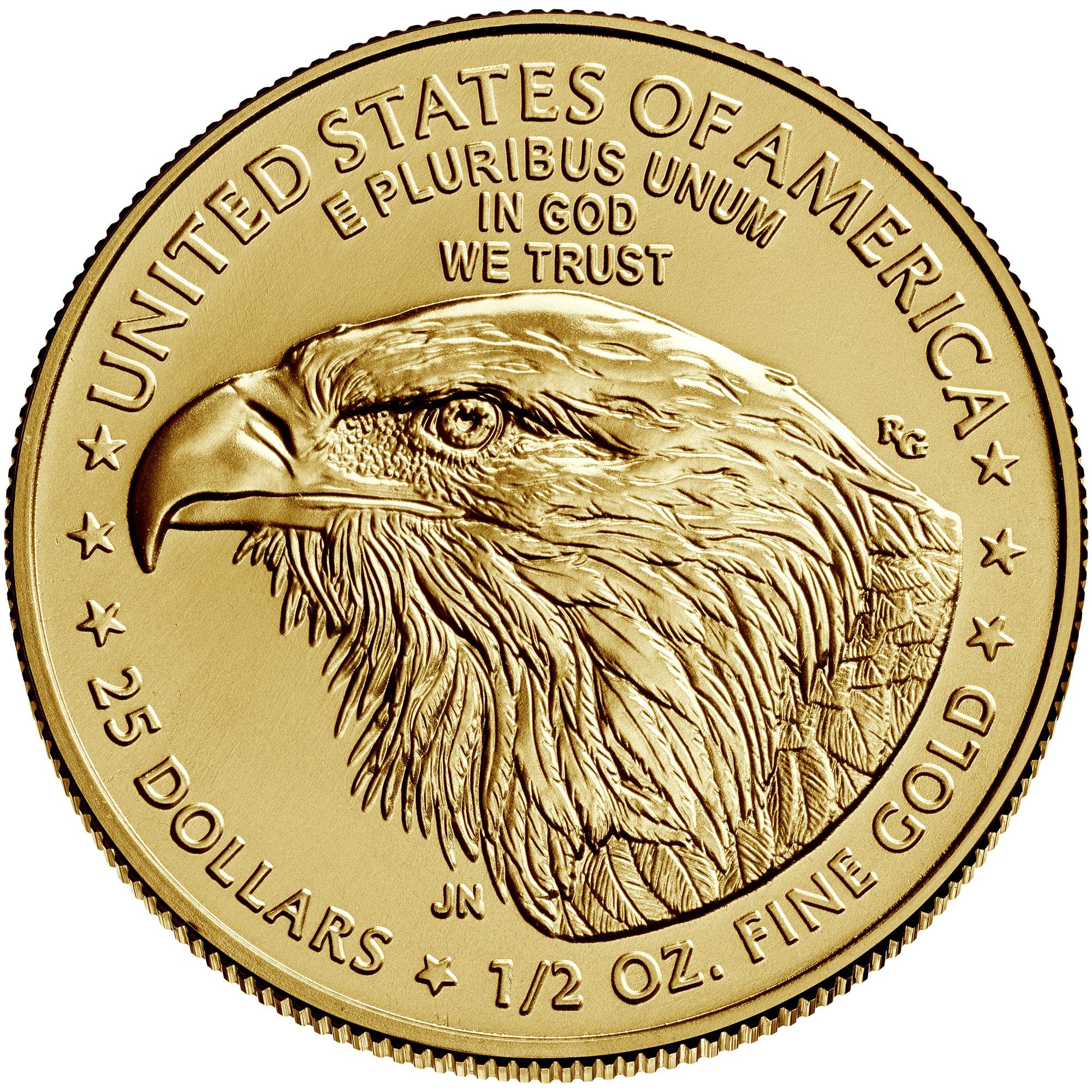 1/2 Unze (oz) American Eagle Neuware - neues Motiv