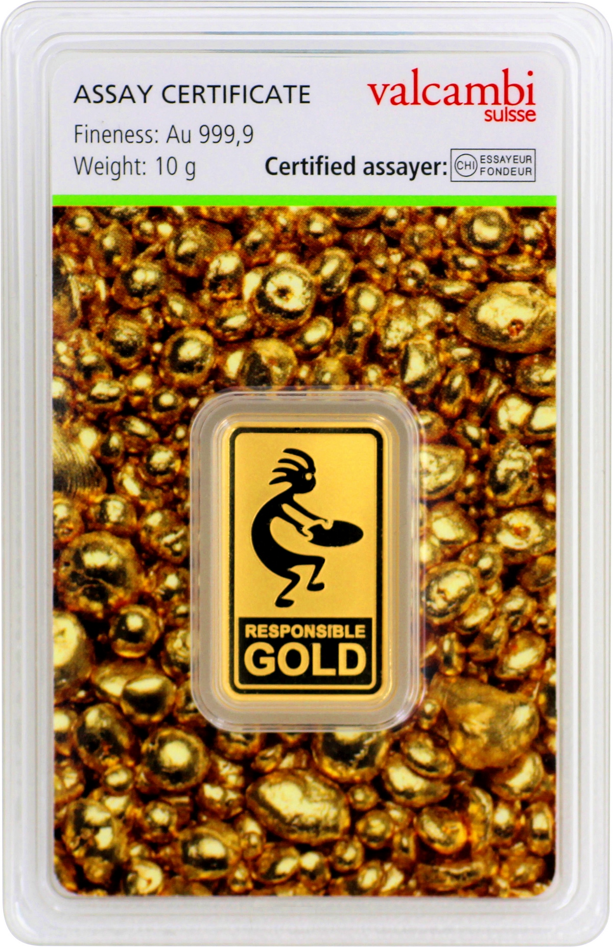 10 g Valcambi Responsible Goldbarren