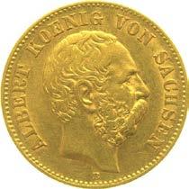 20 Mark Albert König von Sachsen Prägejahr 1876 Prägestätte E