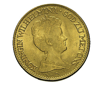 10 Gulden Niederlande Wilhelmina