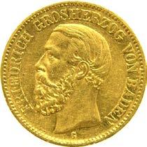 20 Mark Friedrich II von Baden Prägejahr 1914 Prägestätte G
