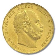 10 Mark Wilhelm I Preußen