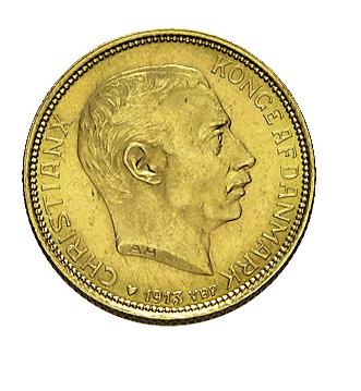 20 Kronen Dänemark Christian X  oder Frederik VIII