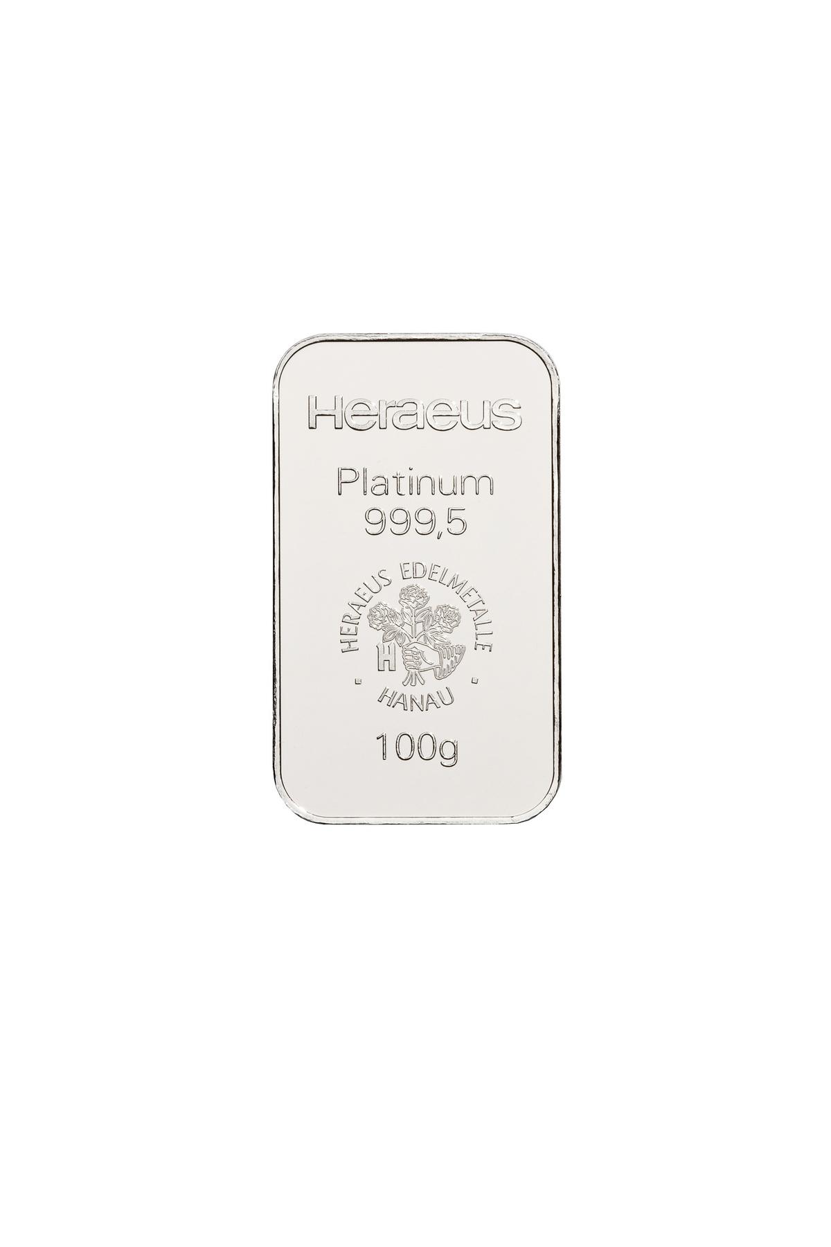 100 g  Platinbarren