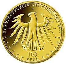 """100-Euro-Goldmünze 2017 """"Luthergedenkstätten in Eisleben und Wittenberg"""""""
