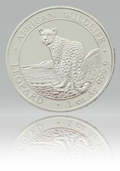 1 Unze (oz) Somalia Leopard 2018 Silbermünze erstes Ausgabejahr