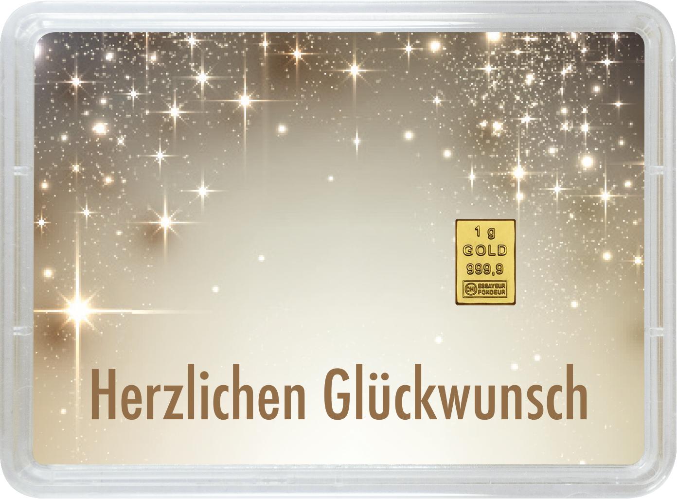"""1 g Goldbarren Geschenkbarren """"Geburt"""""""