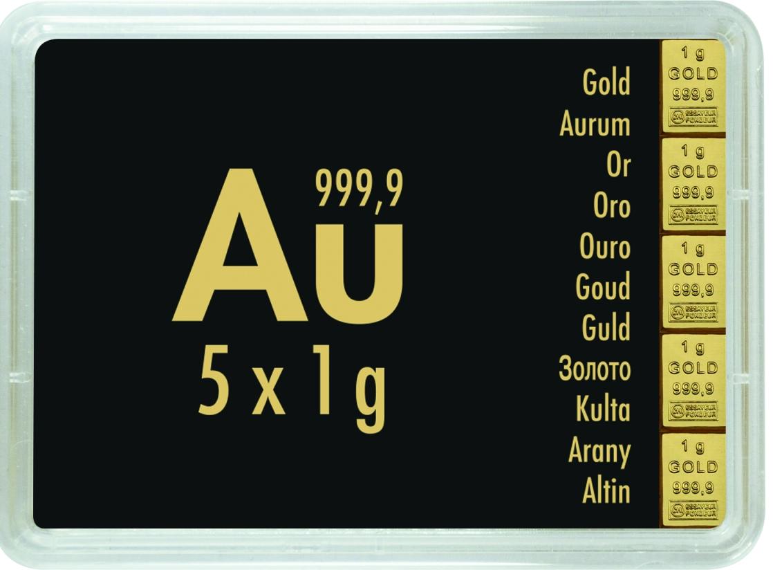 5 g (5 x 1 g) Valcambi CombiBar Goldbarren Neuware