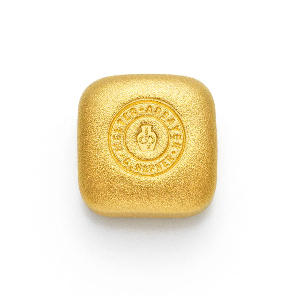1 Unze Hafner Goldbarren Guss c
