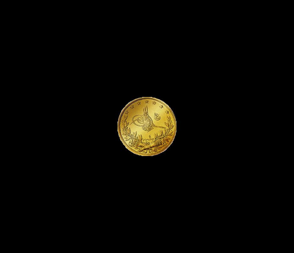 100 Piaster Türkei Goldmünze