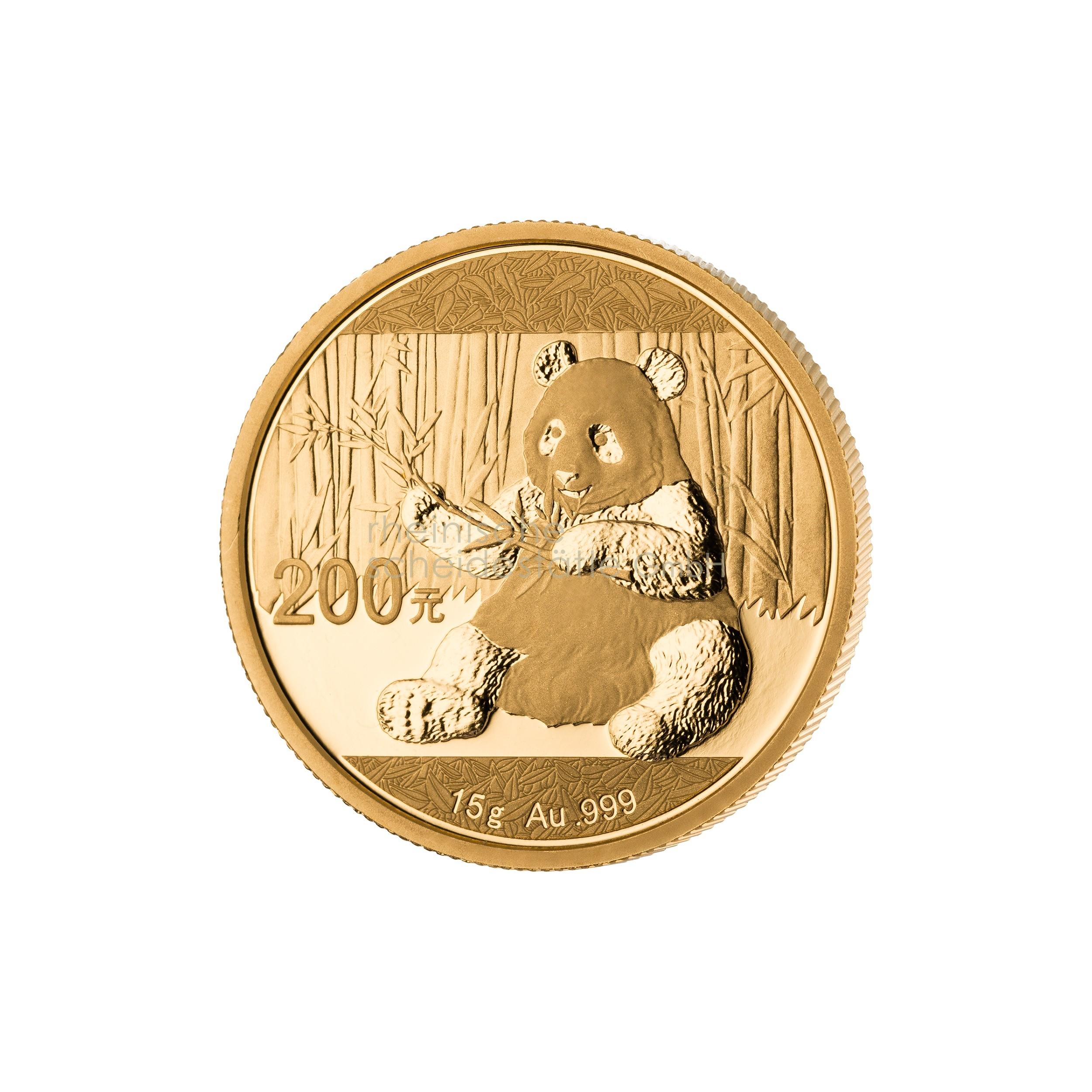 15g China Panda Goldmünze 1