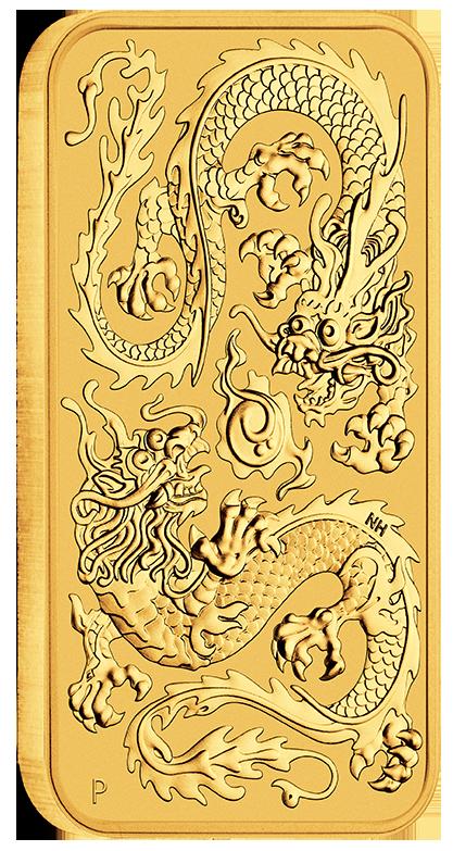 1 Unze (oz)  Perth Mint Drache  Dragon Rectangle Goldmünze Münzbarren