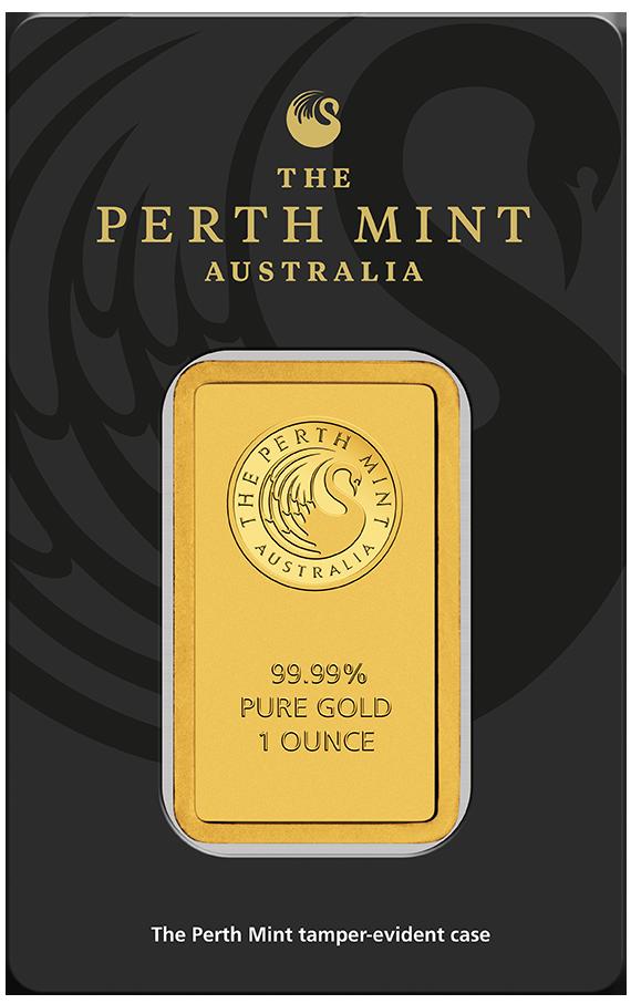 1 Unze (oz) Perth Mint Goldbarren