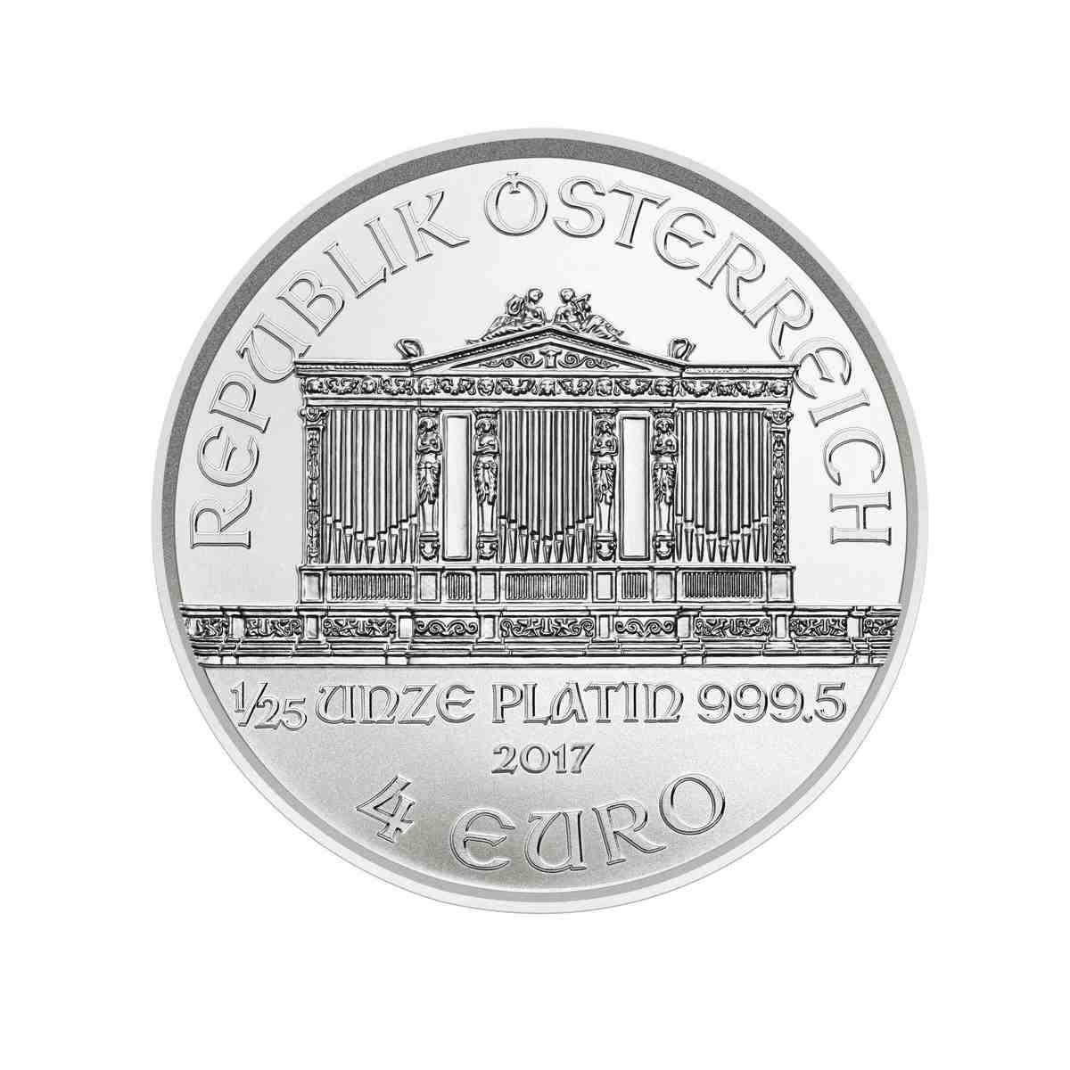 1 Unze (oz)  Wiener Philharmoniker Platinmünzen