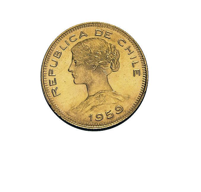 100 Pesos Chile Goldmünze