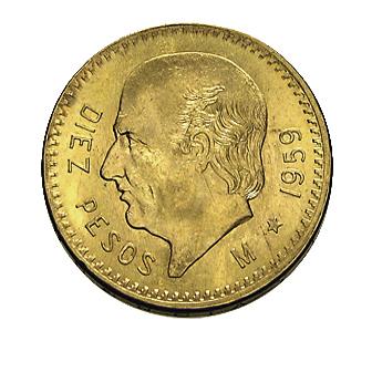 10 Pesos Goldmünze Mexiko Hidalgo