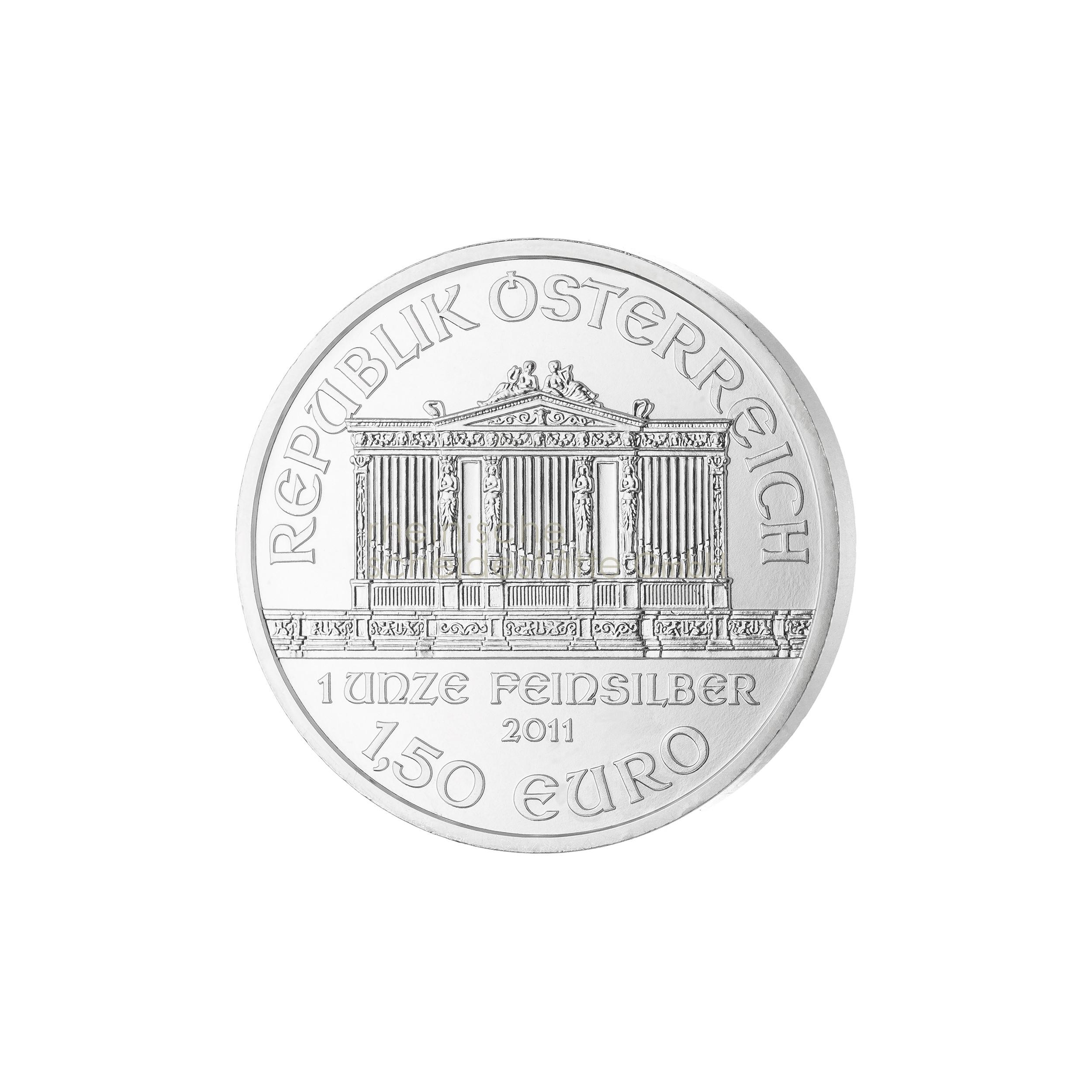 1 Unze Wiener Philarmoniker Silbermünze 1