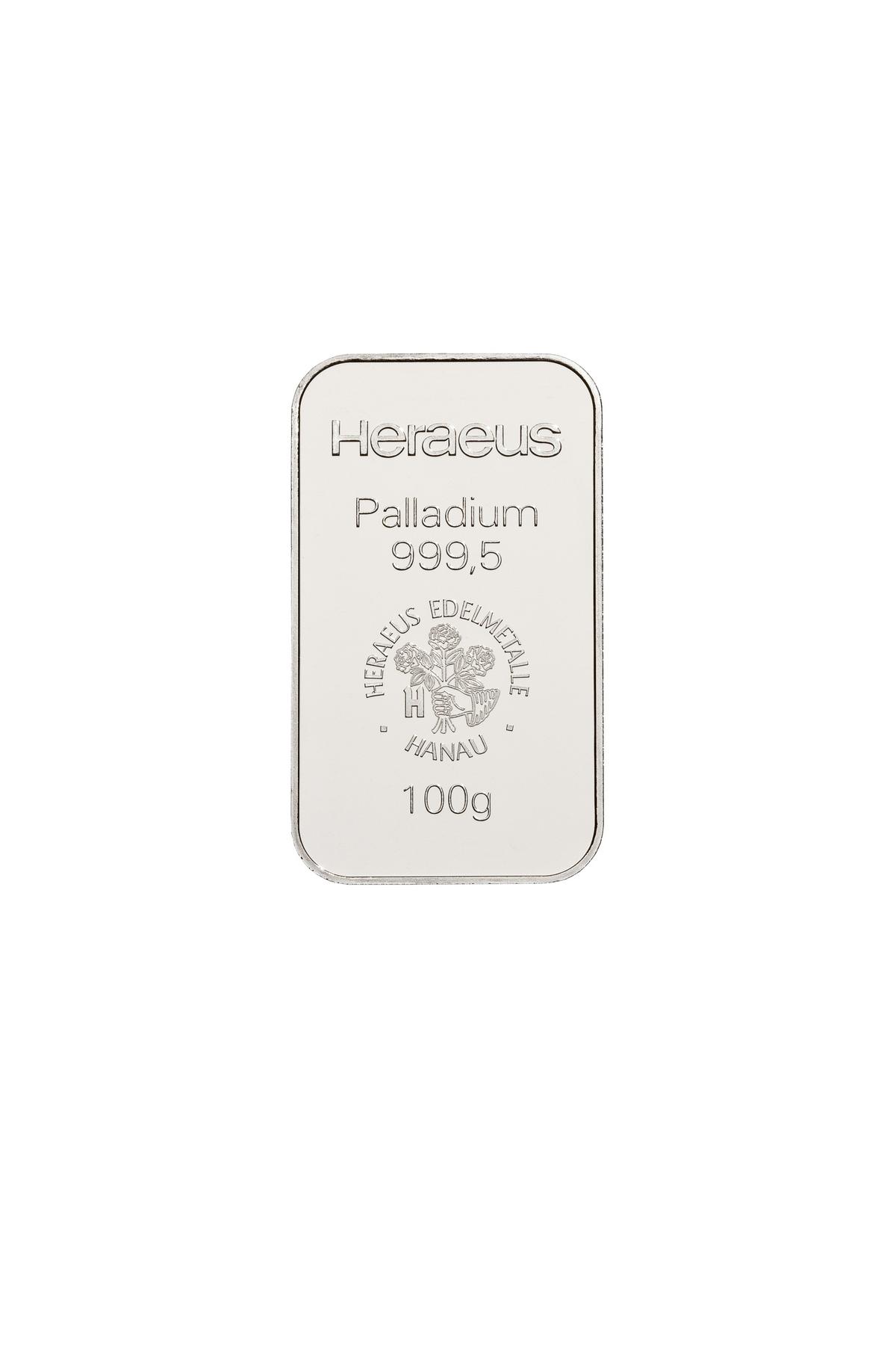 100 g  Palladiumbarren
