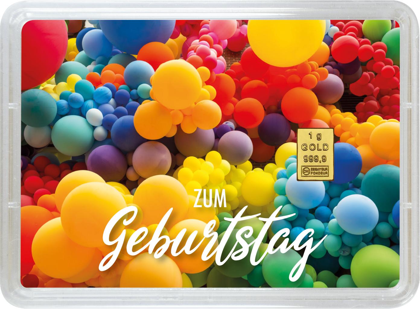 """1 g Goldbarren Geschenkbarren """"Geburtstag"""""""