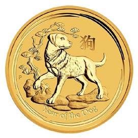 1/20 Unze (oz) Lunar 2 Hund 2018 Goldmünze