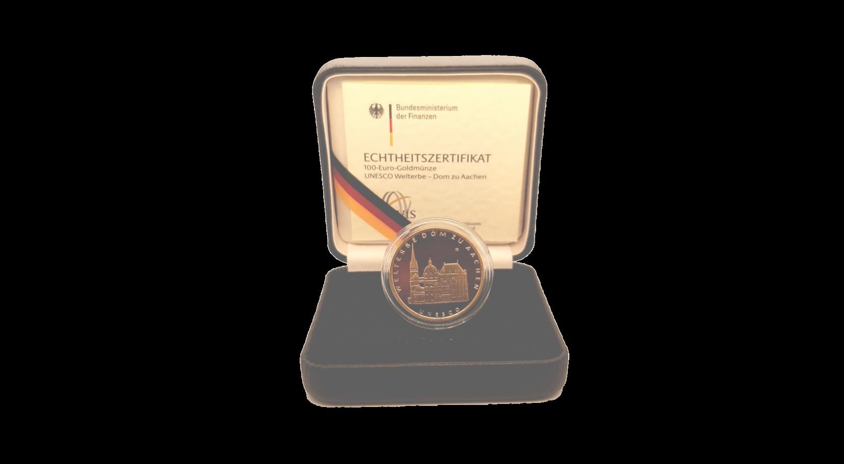 "100-Euro-Goldmünze 2012 ""UNESCO Welterbe – Dom zu Aachen"""