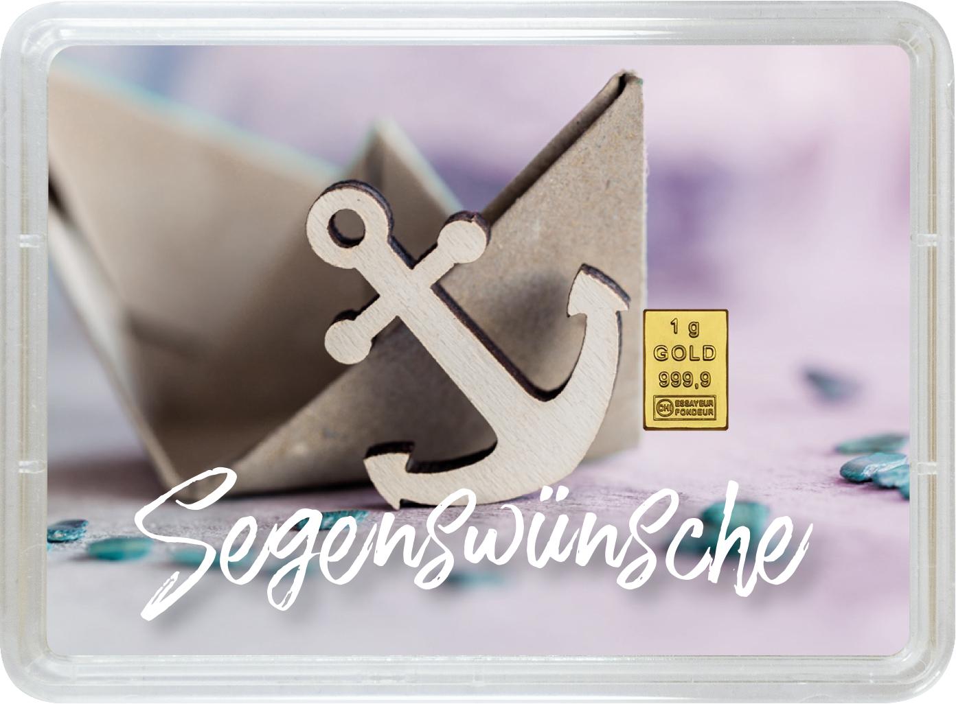 """1 g Goldbarren Geschenkbarren """"Taufe"""""""