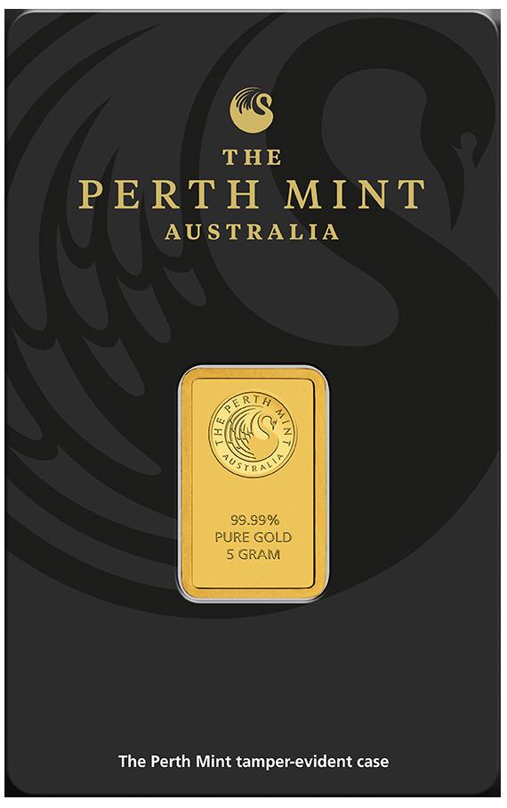 5 g Perth Mint Goldbarren