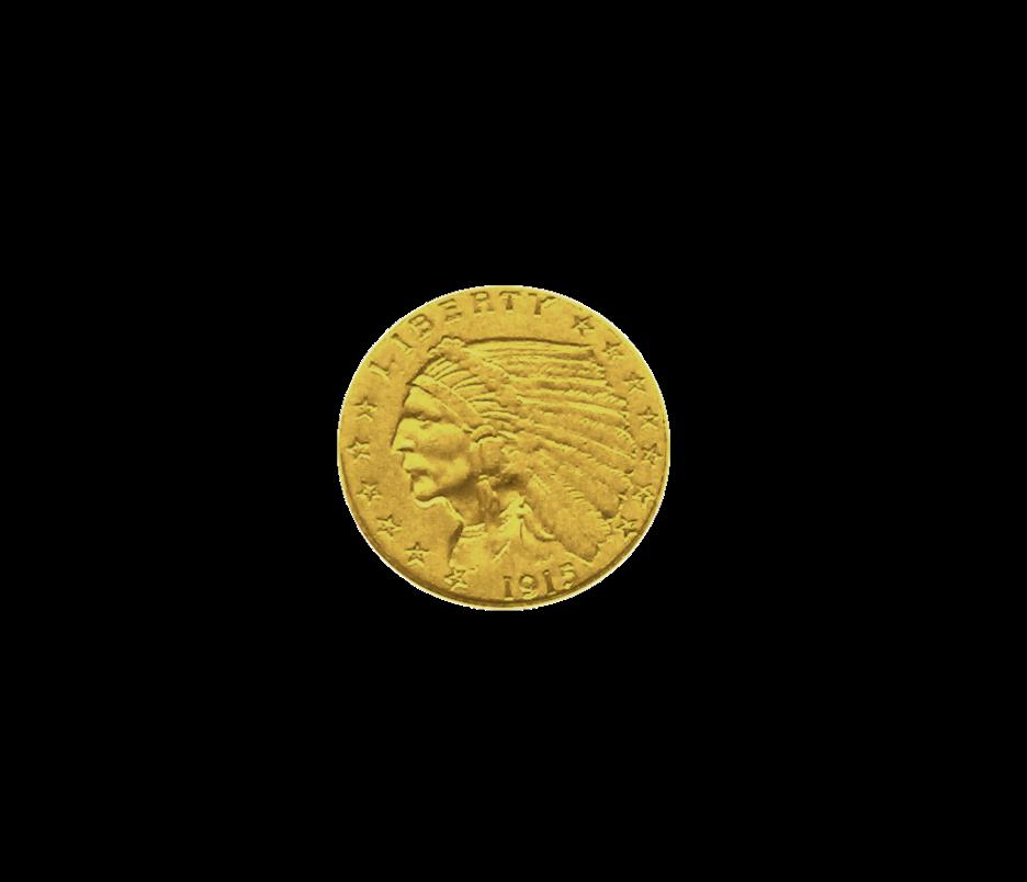 2,5 (2 1/2) US-Dollar Indian Head Goldmünze Indianerkopf