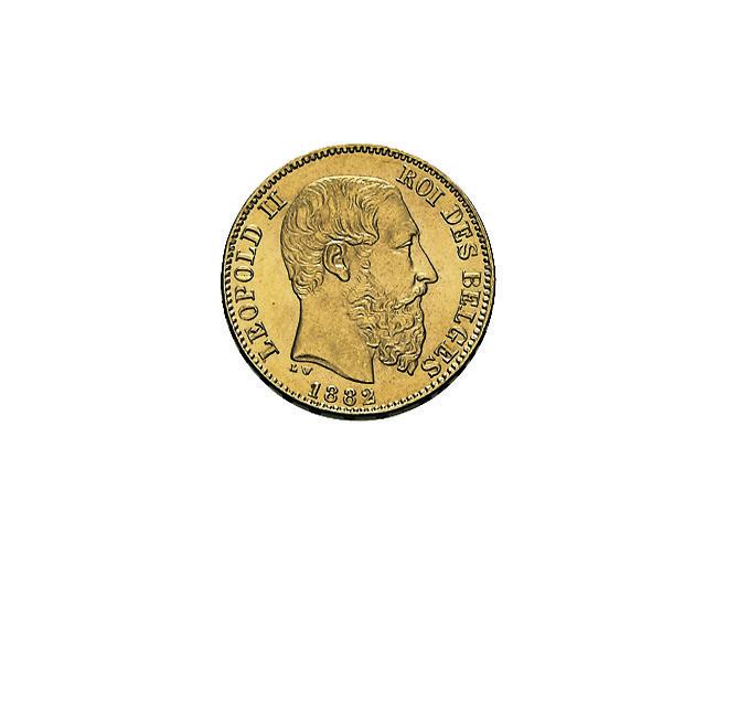 20 belgische Franc Leopold Goldmünze