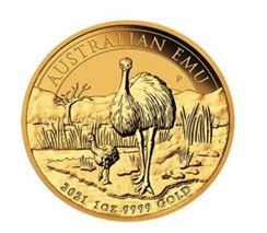 1 Unze (oz) Emu Goldmünze Jahrgang 2021 - Restbestand zum günstigen Festpreis