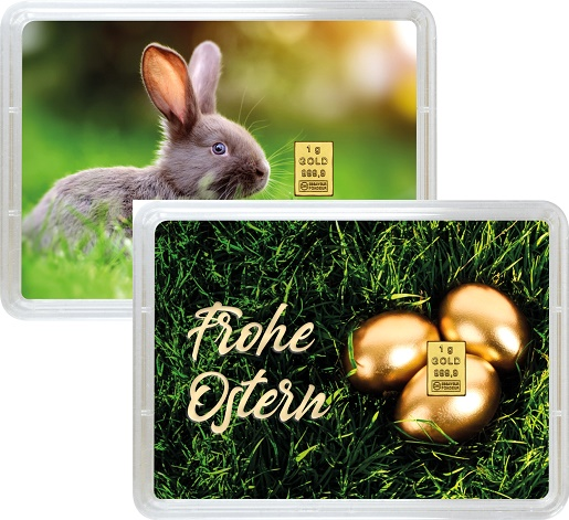 """1 g Goldbarren Geschenkbarren """"Ostern"""""""