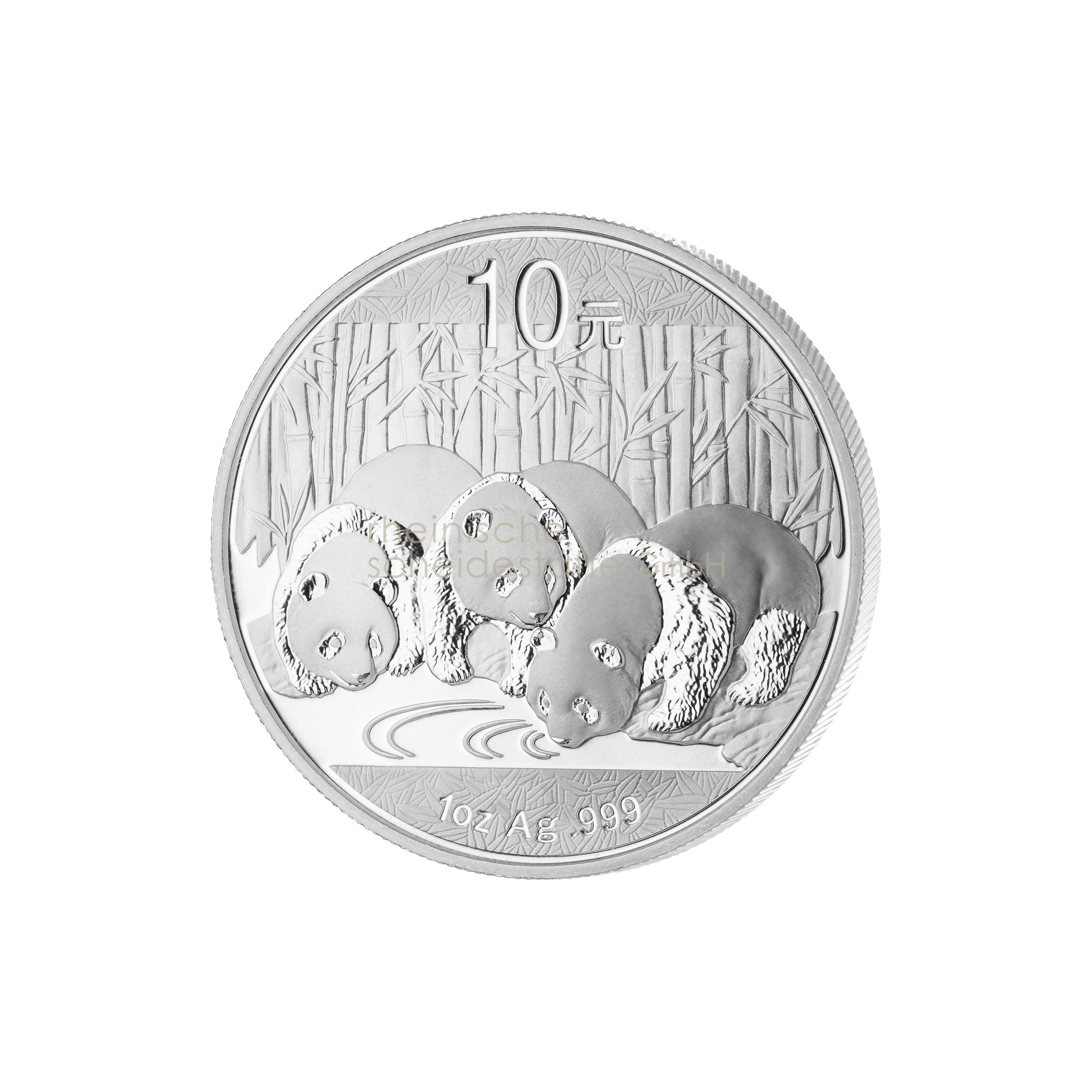 1 Unze China Panda Silbermünze 1