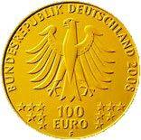 "100-Euro-Goldmünze 2008 ""UNESCO Welterbe – Altstadt Bergwerk Rammelsberg in Goslar"""